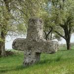 Steinkreuz aus Muschelkalk bei Gerabronn-Oberweiler (Foto © R. Wolf)