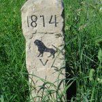 Grenzstein mit Vaihinger Löwe am Wanderweg von oberriexingen nach Vaihingen/Enz, Foto: R. Wolf